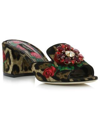 Keira leopard embellished heeled mules DOLCE & GABBANA