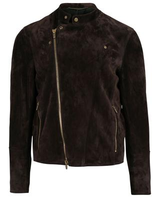 Suede moto jacket AJMONE SARTORIAL LEATHER