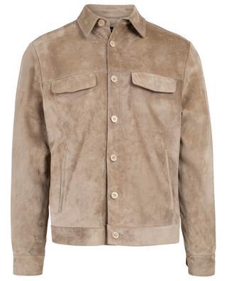 Jacke aus Wildleder mit Pattentaschen AJMONE SARTORIAL LEA