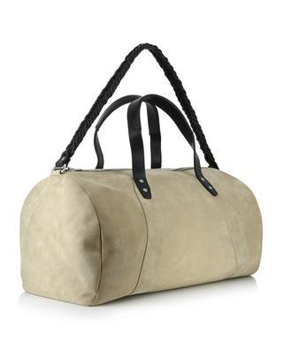 Barrel suede travel bag AJMONE SARTORIAL LEA