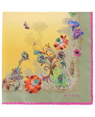 Kleines quadratisches Tuch mit Blüten Bangalore ETRO
