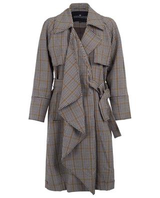 Babette trench coat with draped panel DESIGNERS REMIX