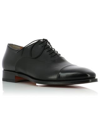 Smooth leather brogues SANTONI