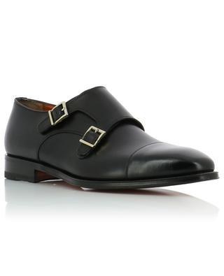 Monk-strap leather shoes SANTONI