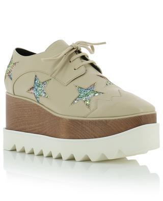 Elyse Glitter Star wedge shoes STELLA MCCARTNEY