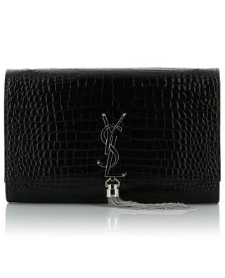 Sac en cuir effet croco Kate Tassel SAINT LAURENT PARIS