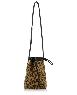Talitha M calf hair leather leopard print bucket bag SAINT LAURENT PARIS