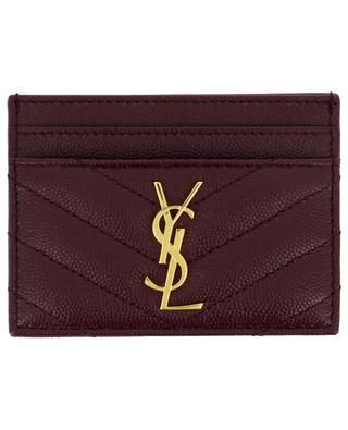Monogram textured leather card holder SAINT LAURENT PARIS