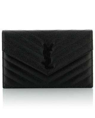 Classic Monogram grained leather pouch SAINT LAURENT PARIS
