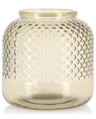 Large smoked glass vase KERSTEN