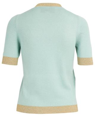 Fine slim fit jumper with lamé trims GUCCI