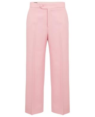 Cropped wide-leg wool trousers GUCCI