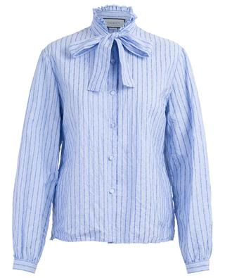 Cotton blouse with Gucci pinstripe GUCCI