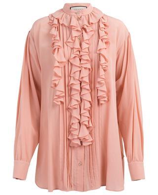 Ruffled silk blouse GUCCI