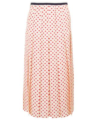 Pleated skirt with clover, heart and GG pattern GUCCI