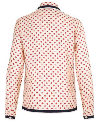 Heart, clover and GG logo print shirt GUCCI