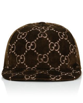 Baseballkappe aus Samt GG Logo GUCCI