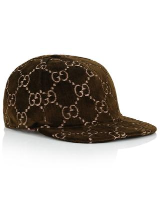 GG logo velvet baseball cap GUCCI