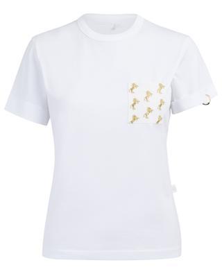 Golden horse embroidered T-shirt CHLOE