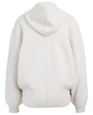 Wool and cashmere cardigan with hood CHLOE