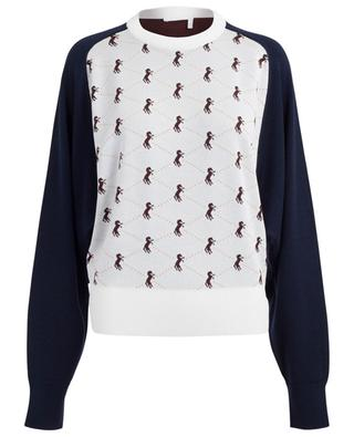 Two-tone horse pattern jacquard jumper CHLOE
