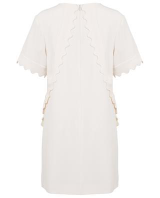 Kleid aus Crêpe mit Muschelsäumen CHLOE
