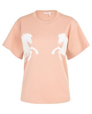 T-shirt boyfriend imprimé de chevaux CHLOE