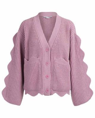 Scalloped cotton and wool cardigan STELLA MCCARTNEY