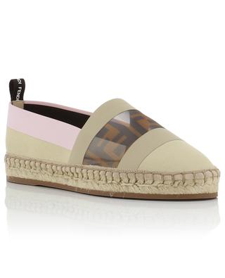 FF net yoke canvas espadrilles FENDI