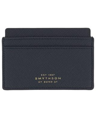 Panama textured leather card holder SMYTHSON