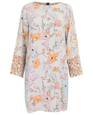 Robe trapèze en soie imprimée magnolias MARC CAIN