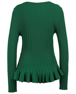 Rib knit sheath jumper in viscose blend with peplum MARC CAIN