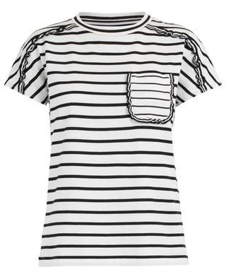 Ruffled striped T-shirt MARC CAIN