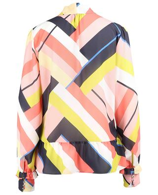 Striped crepe blouse with necktie MARC CAIN