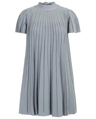 A-Jour striped lurex detail dress RED VALENTINO