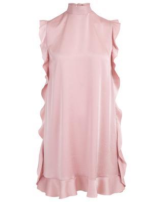 Short ruffled satin dress RED VALENTINO