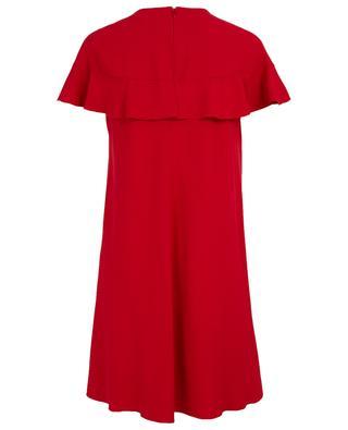 A-förmiges Kleid aus Crêpe mit Rüsche RED VALENTINO