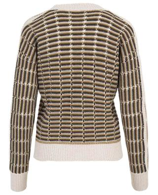 Striped openwork jumper with slit sleeves SONIA RYKIEL