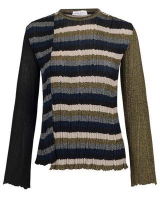 Striped pleat effect Lurex jumper SONIA RYKIEL