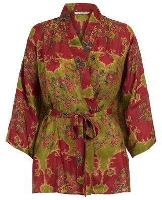 Kimono en soie fleurie Davince MES DEMOISELLES