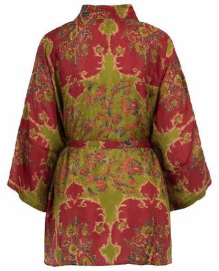 Davince floral silk kimono MES DEMOISELLES