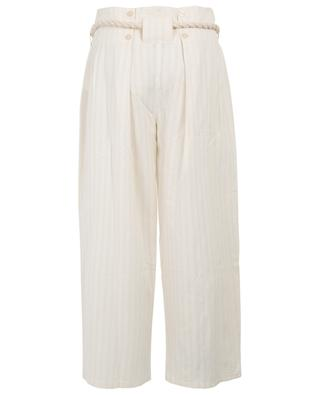 Olympic striped paperbag trousers MES DEMOISELLES