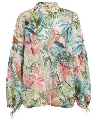 Bluse aus Baumwolle und Seide Ilary BLACK CORAL
