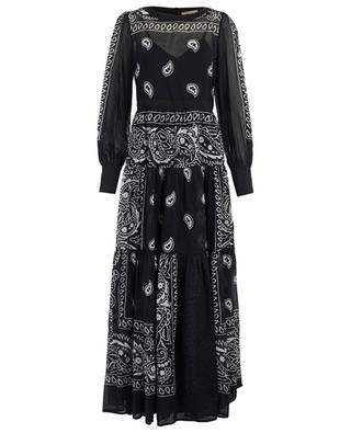 Langes Kleid mit print Silvy BLACK CORAL