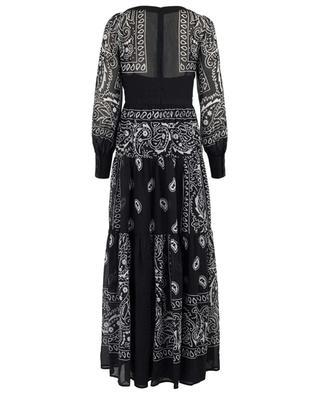 Silvy printed maxi dress BLACK CORAL