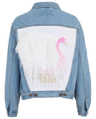 Cigno swan embellished denim jacket FORTE COUTURE