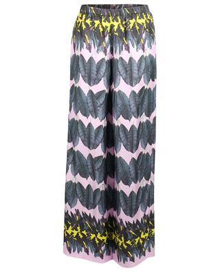 Printed silk wide-leg trousers MARC CAIN