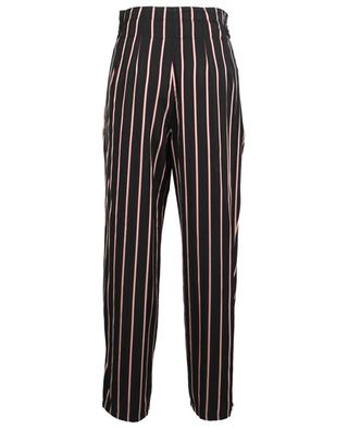 Striped cotton blend carrot trousers MARC CAIN