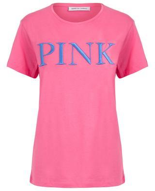 Boyfriend-T-Shirt mit Slogan Pink QUANTUM COURAGE