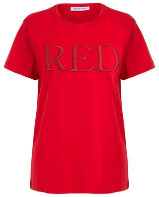 Lässiges Slogan-T-Shirt Red QUANTUM COURAGE